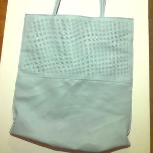 Saks Fifth Avenue Teal Tote Bag